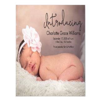 Cartão magnético do anúncio do nascimento do bebê