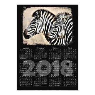 Cartão magnético do calendário da foto 2018 das