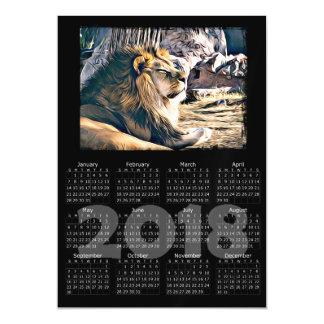 Cartão magnético do calendário da foto 2018 de