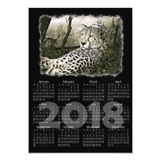 Cartão magnético do calendário da foto 2018 do