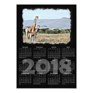 Cartão magnético do calendário da foto 2018 dos