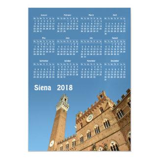 Cartão magnético do calendário de Siena, Italia