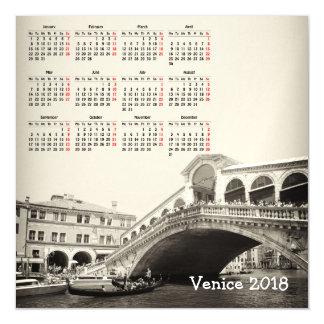 Cartão magnético do calendário de Veneza, Italia