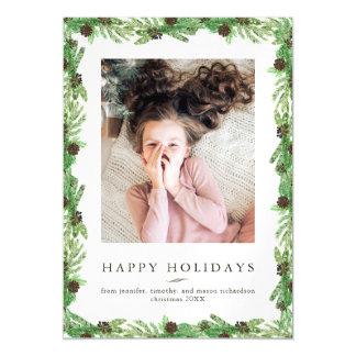 Cartão Magnético Foto do Natal do pinho | do feriado