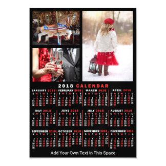 Cartão Magnético Fotos mensais do costume 3 do preto do calendário