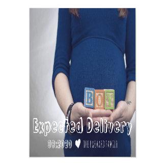 Cartão Magnético Ímã previsto do anúncio da gravidez da entrega