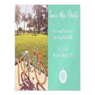 Cartão Magnético Imã salve a data da bicicleta da praia