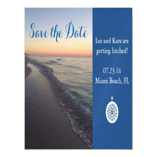 Cartão Magnético Imã salve a data da praia