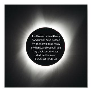 Cartão Magnético imagem do eclipse 2017 solar com citações da