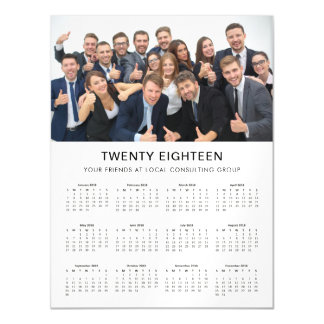 Cartão Magnético | moderno mínimo 2018 calendários da foto da