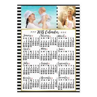 Cartão Magnético O calendário mensal de 2018 anos listra fotos do
