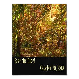 Cartão Magnético O dossel das folhas da queda salvar a data