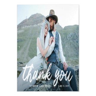 Cartão Magnético Obrigado Wedding da foto da gratitude | de Boho