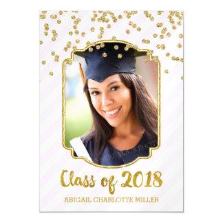 Cartão Magnético Os confetes do ouro coram graduação das listras