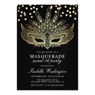 Cartão Magnético Partido do doce 16 do mascarada dos confetes do