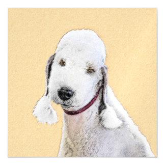 Cartão Magnético Pintura de Bedlington Terrier 2 - arte original do