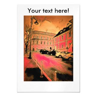 Cartão Magnético Pintura de Sibiu