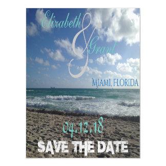 Cartão Magnético Salvar o ímã da praia da data