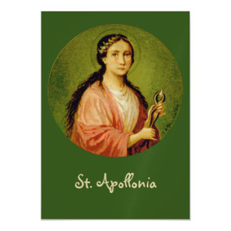 "Cartão Magnético St. Apollonia (BLA 001) 5"" x7 """