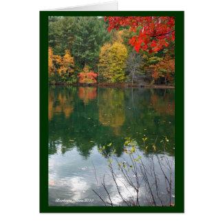 Cartão Magnetismo subtil na natureza: Lagoa de Walden