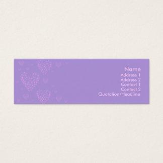 Cartão magro 2 do coração roxo