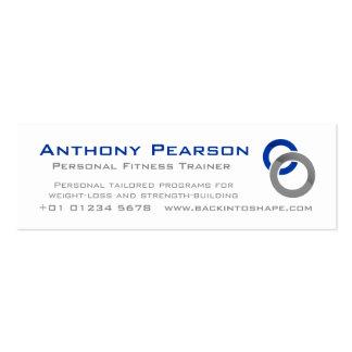 Cartão magro da promoção do negócio do instrutor cartão de visita skinny