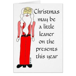 Cartão magro do Natal do papai noel