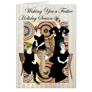 Cartão Mah Jongg festivo