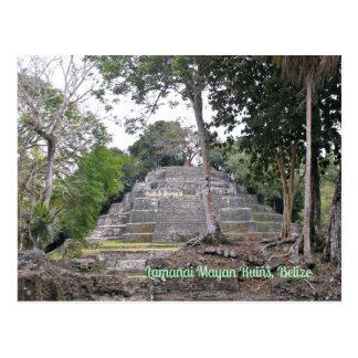 Cartão maia de Belize das ruínas de Lamanai