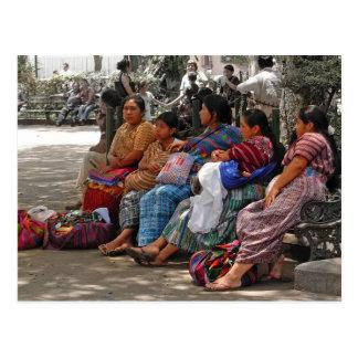 Cartão maia dos vendedores
