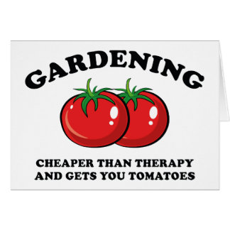 Cartão Mais barato do que a terapia e obtem-lhe tomates