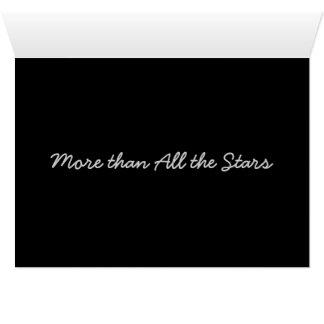 Cartão Mais do que todas as estrelas…