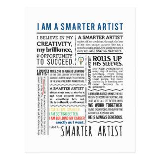 Cartão mais espertos do manifesto do artista
