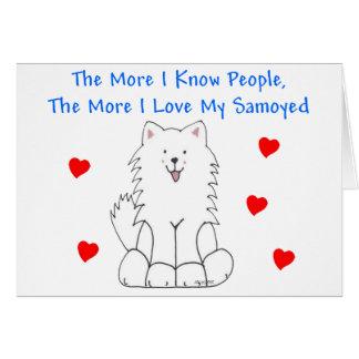 Cartão Mais eu conheço pessoas do Samoyed