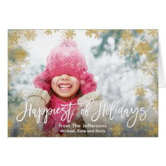 Cartão Mais feliz da foto dos feriados
