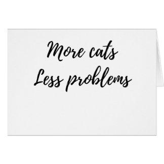 Cartão Mais gatos, menos problemas