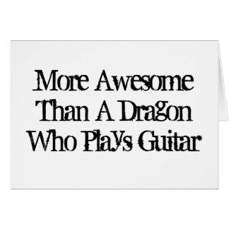 Cartão Mais impressionante do que um dragão que jogue a