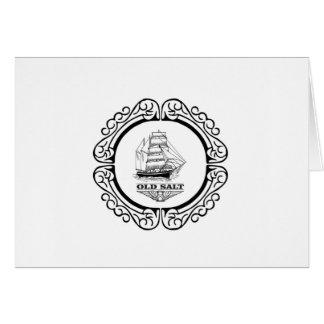 Cartão mais termos do marinheiro