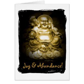 Cartão Maitreya - Buddha de riso