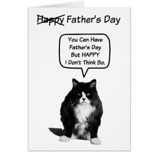 Cartão mal-humorado engraçado do dia dos pais do