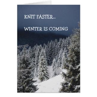 Cartão Malha mais rapidamente… O inverno está vindo,