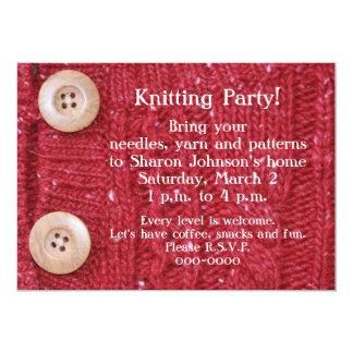 Cartão Malha vermelha de confecção de malhas do cabo do