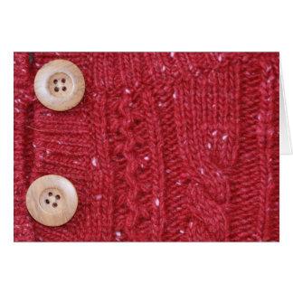 Cartão Malha vermelha do cabo e dois botões