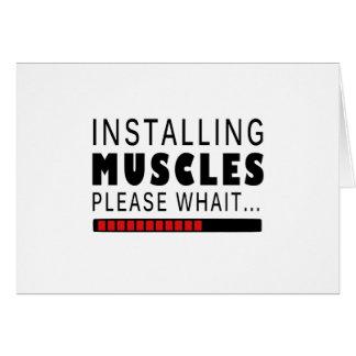 Cartão Malhação e músculos do Gym