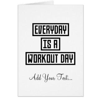 Cartão Malhação Z2y22 do dia do exercício