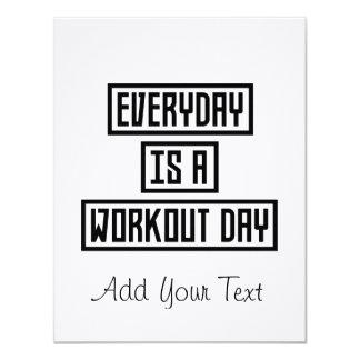 Cartão Malhação Zx41w do dia do exercício
