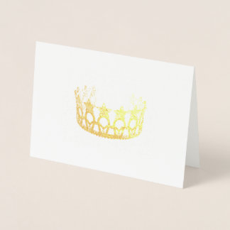 Cartão malogrado da coroa do ouro do estilo da
