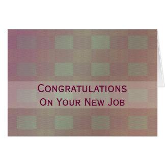 Cartão Malva pastel do trabalho dos parabéns