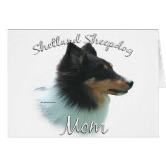 Cartão Mamã 2 do Sheepdog de Shetland tri) (