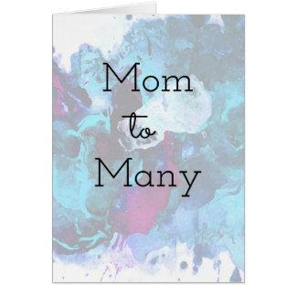 Cartão Mamã a muitos